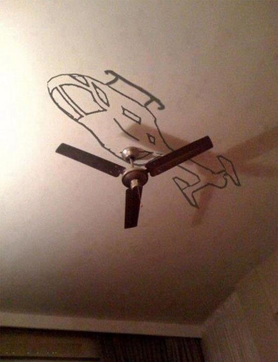 What a cool idea for a little boy's ceiling!