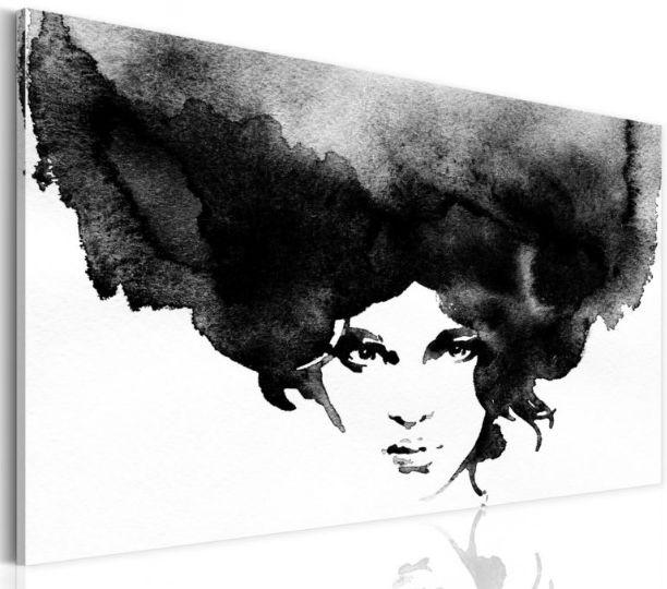 quadro con #ritratto #donna tempesta di #pensieri astratto  https://www.quadriperarredare.it/shop/quadro-tempesta-dei-pensieri/