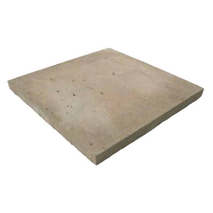 Expocrete 18 In X 18 In Brown Travertine Full Slab Patio Stone   Loweu0027s
