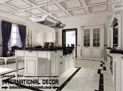 Modern Kitchen Ceiling Designs Ideas Lights, Coffered Ceiling For Kitchen · Art  Deco ...