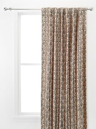 57% OFF Damask Print Velvet Panel (Beige)