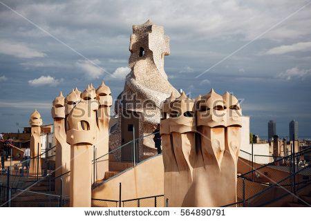 Gaudi sculptures from Barcelona.