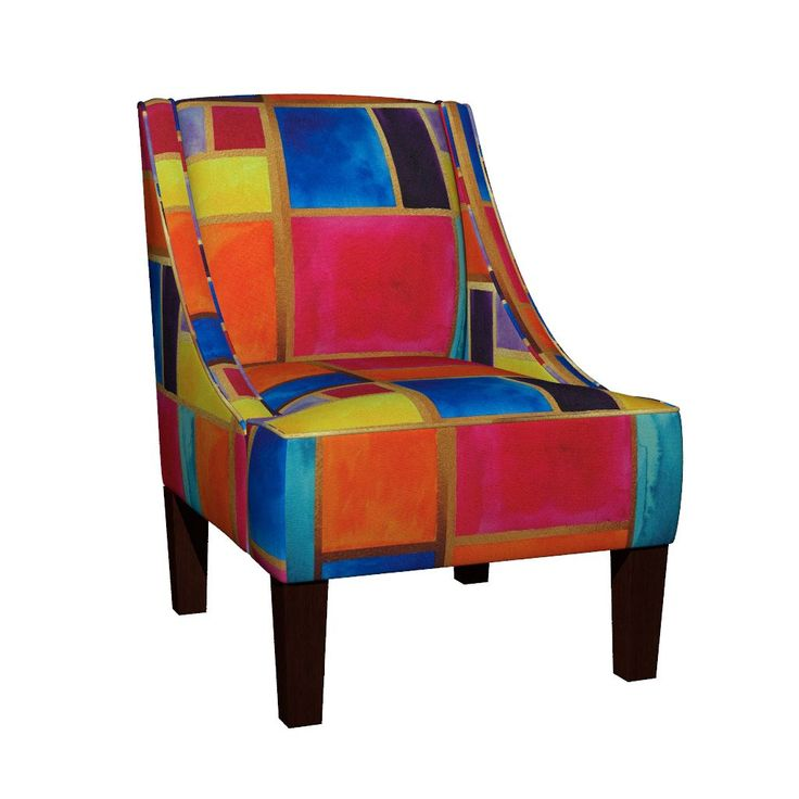 Venda Sloped Arm Chair featuring Moroccan Stained Glass by jessmorris | Roostery Home Decor