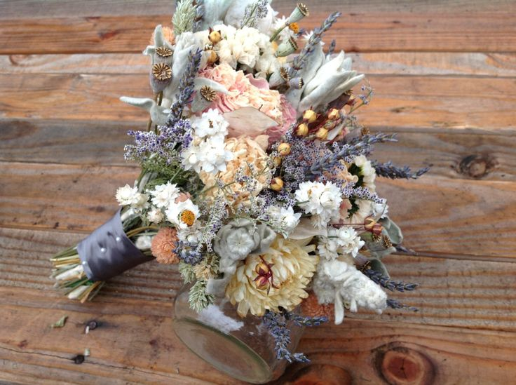 dried lavender bouquet wedding champagne collection bridesmaid bouquet dried flower 3754