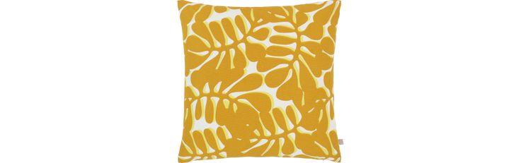Illow Kissen 45x45, gelb mit Motiv (www.habitat.fr)