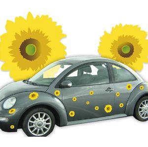 Sticker voiture fleurs de Tournesol