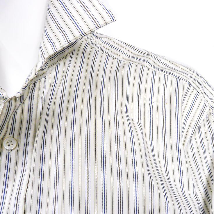 Hermes Men's Dress Shirt Cotton Size 39 Unisex w/French Cuffs