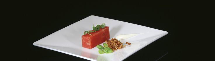Recepten van Topchefs | Watermeloen met basilicum ijs – Eric Swaghoven