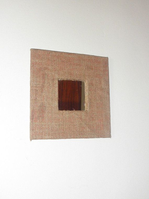 Square mirror with hessian fabric // by FourSeasonsCreations, $16.70