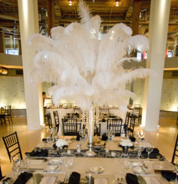 Feather Centerpieces - Tips for Your Bat Mitzvah, Wedding, Sweet 16 | Mazelmoments.com