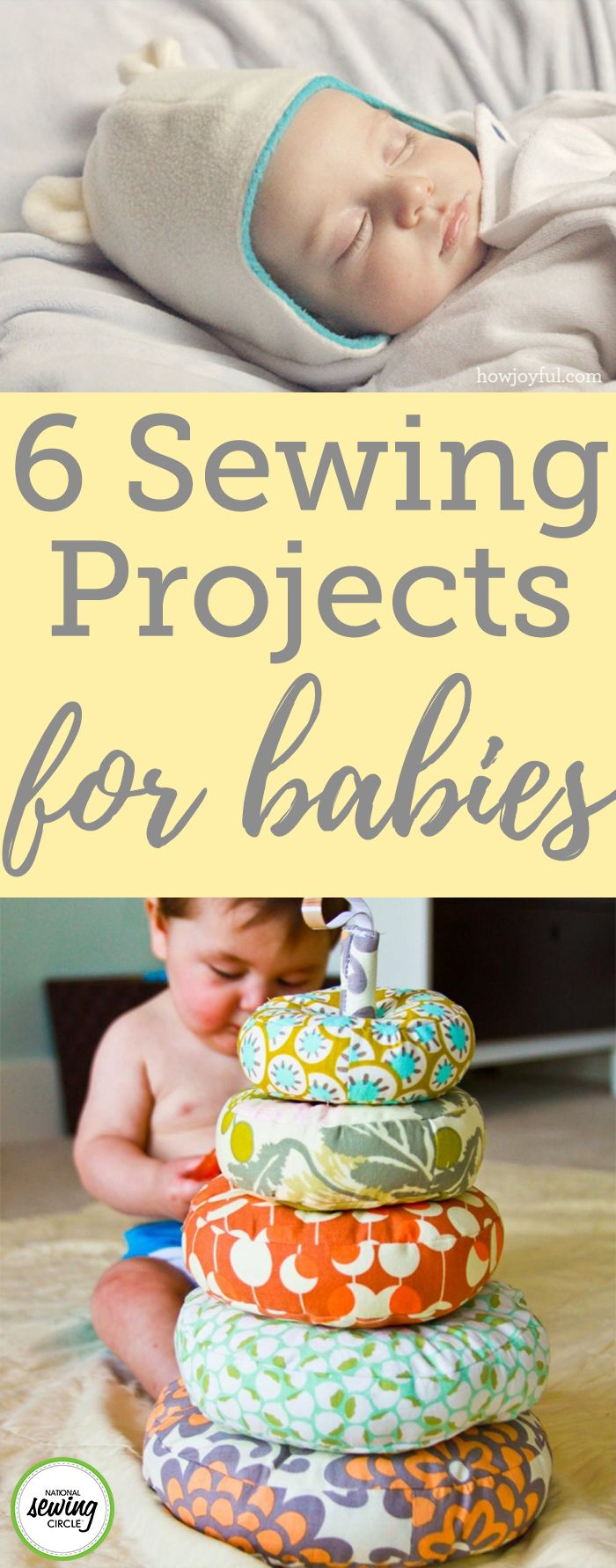 Expecting a grandchild, niece, nephew, or baby of your own? We've found some fun project ideas you can make for the baby in your life. Creating a gift by hand just seems to hold so much more meaning than a store bought present, no matter what your skill. Here you'll find projects for beginner sewers and seasoned sewers alike!