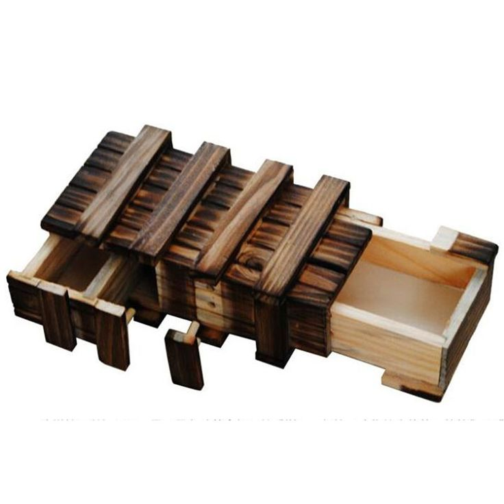 Vintage Wooden Puzzle Box
