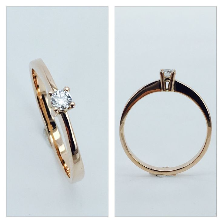 Rose Gold Ring with Diamond 0,09ct SI/E