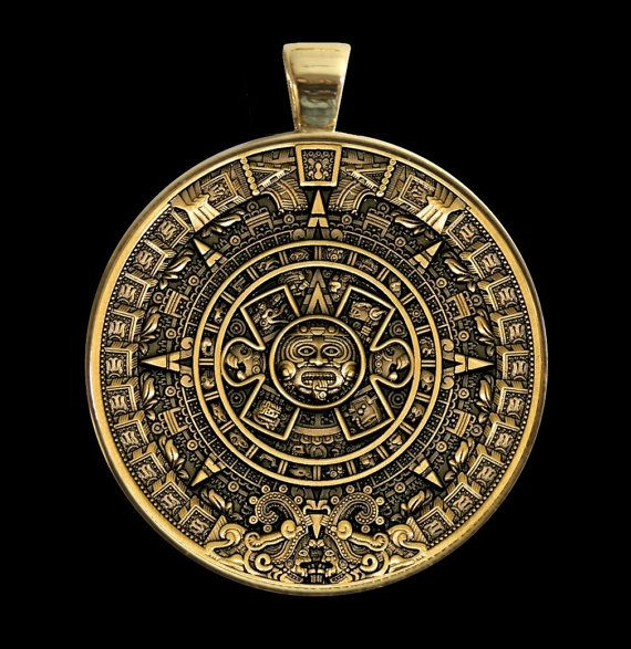 160 best aztec calendar coin medallion jewelry images on pinterest legendary aztec calendar stone design reversible antique gold finish medallion in sterling silver bezel w 4 stone cabochon reverse options aloadofball Image collections