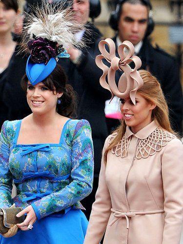 Принцесса Беатрис и Юджин на королевской свадьбе.