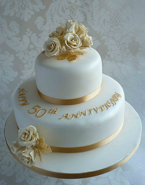 50th Anniversary Cake 2 tier  Price from £85