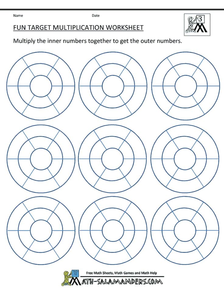 Fun Multiplication Worksheets Math Multiplication