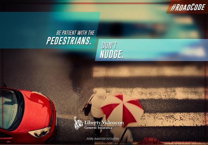 Be patient and avoid nudging the pedestrians. Nudging is against the #RoadCode