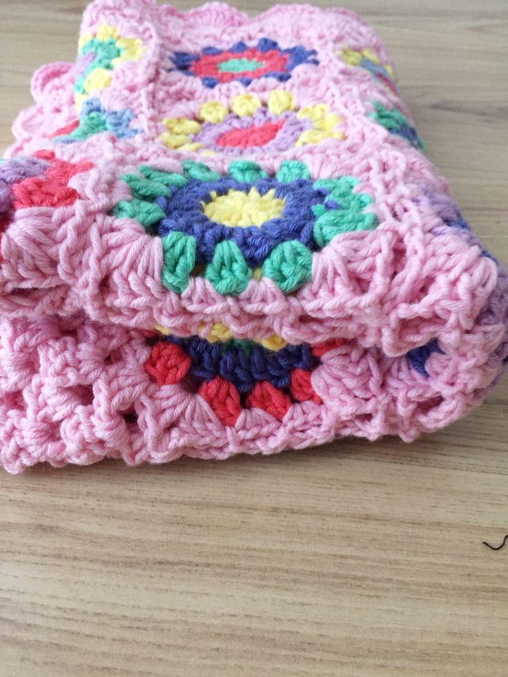 Excited to share the latest addition to my #etsy shop: Crochet granny sunburst design baby blanket, pink cotton baby blanket, handmade granny square blanket, granny circle blanket, pram blanket, #housewares #bedroom #bedding #pink #christmas #rainbow #floral #crib #grannysquare #vintagelook #traditional #crochet  #yes