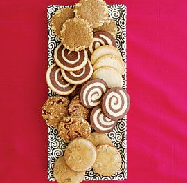 Slice-and-Bake Christmas Cookies Slice-and-bake cookies are the ultimate make-ahead. Mix your dough, shape it into logs, freeze, then simply pull the logs out when you're ready to bake. And since they often produce large yields, they're perfect for cookie exchanges and gift giving.