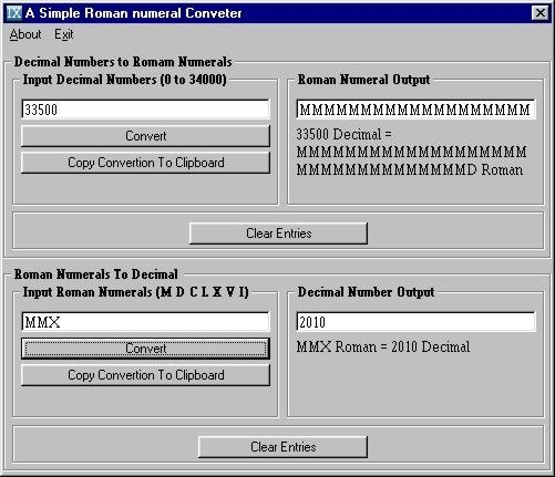 Roman Numeral Converter | ... Dictionary, A Simple Roman Numeral Converter, Roman Clock-VII