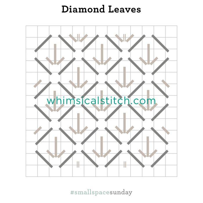 Diamond Leaves from February 4, 2018 whimsicalstitch.com/whimsicalwednesdays blog post.
