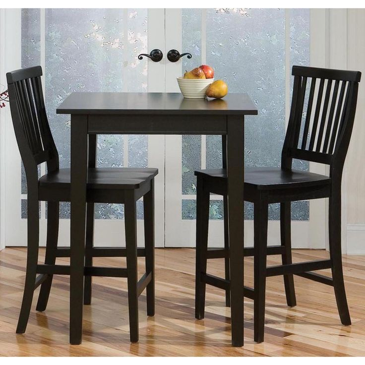 Home Styles Arts Crafts 3 Piece Counter Height Pub Table Set Ebony Bar Tables At Hayneedle