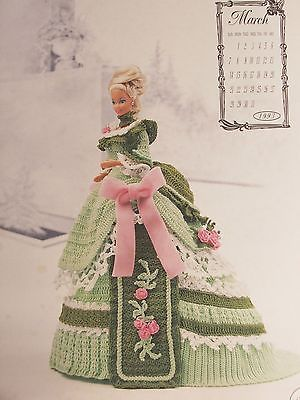 Crochet Fashion Doll Pattern VICTORIAN LADY March Gown