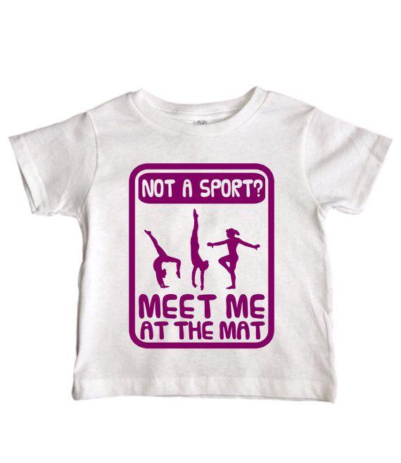 "Cute Girls Gymnastics Shirt "" Not A Sport Meet Me At The Mat "" Toddler Gymnast Collection - Trendy Kids Gym Shirt - Kids Fashion - 065"