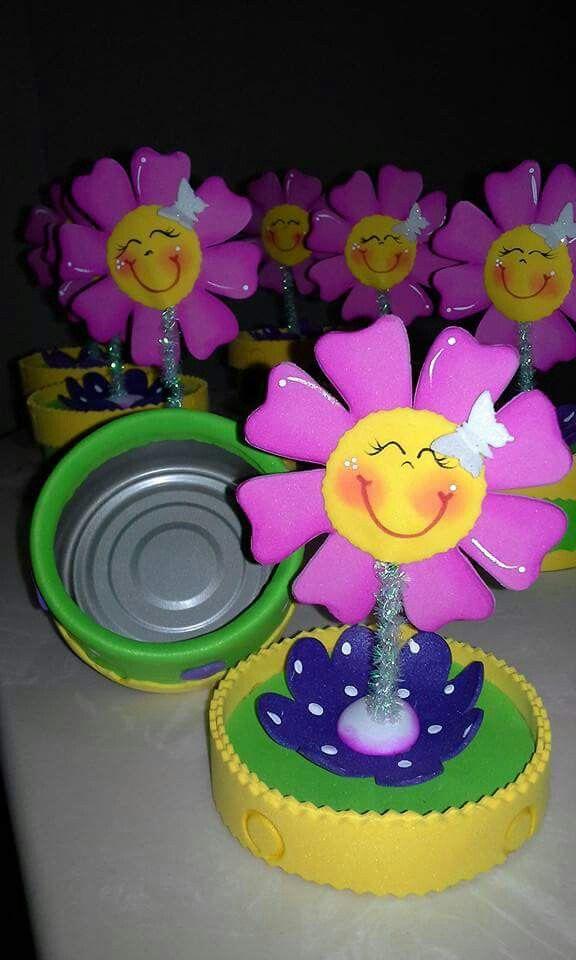 Flores Sencillas De Goma Eva Flores Sencillas De Foamy Con Youtube