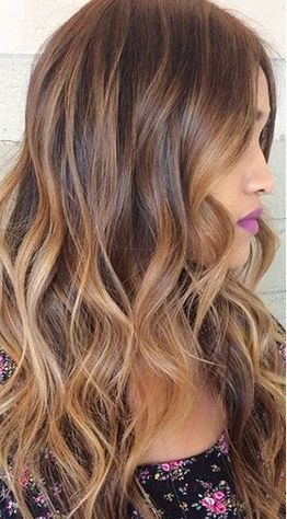The balayage technique has been popular for quite a while now — and this fall, it is no different! Keeping a traditional approach, this method uses hand painting to gradually melt together warm brown hues with their lighter counterparts. Bonus: This gradual blend of natural looking colors makes upkeep a breeze. As with similar shades, Toffee Almonds works best with warmer skin tones.