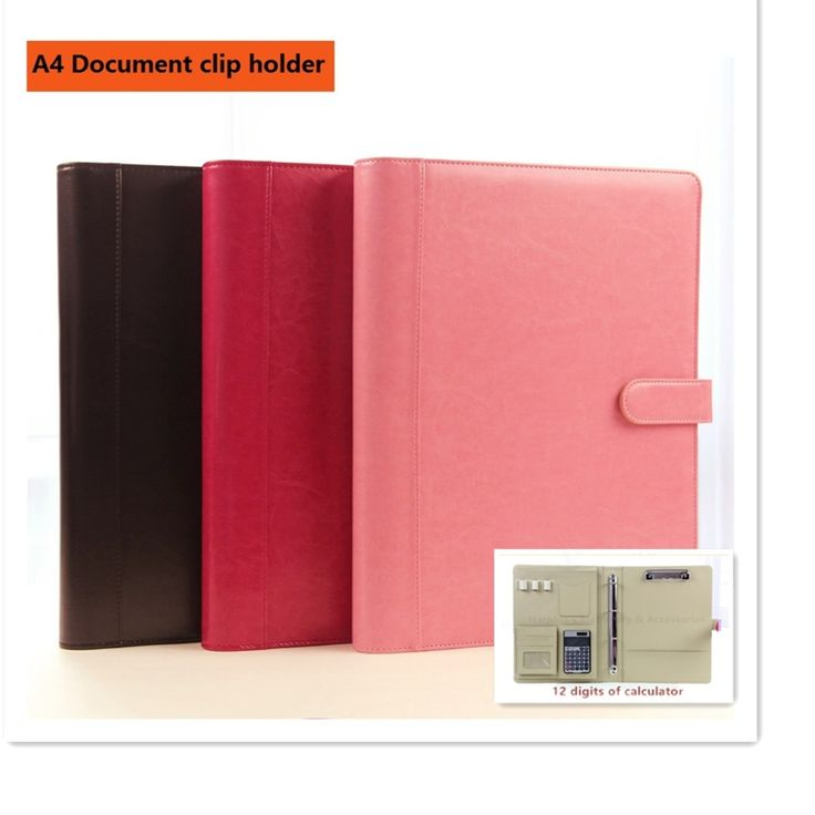 32.88$  Buy now - http://ali4nf.shopchina.info/go.php?t=32627008262 - A4 classical leather manager folder document file holder with clip solid button calculator magnetic snap  #magazineonline