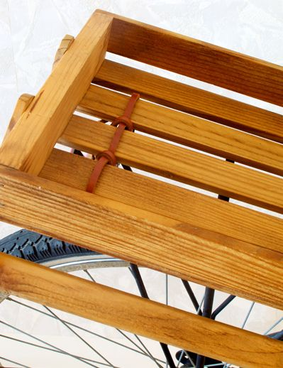DIY - Attach a Wine Crate to Your Bicycle Rack temple university