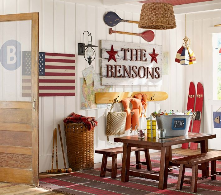 American Flag Wooden Art - beach decorDecor, Ideas, Benchwright Tables, Names Signs, Pottery Barn Kids, Playrooms, Pottery Barns Kids, Wooden Signs, Name Signs