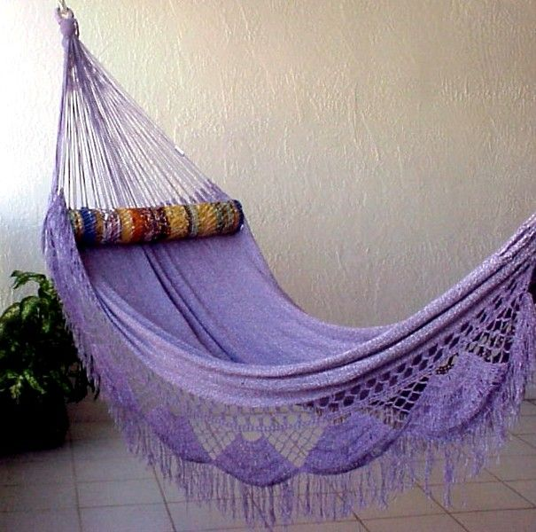 Lilac Hammock. I would love to lie in this and have purple daydreams!