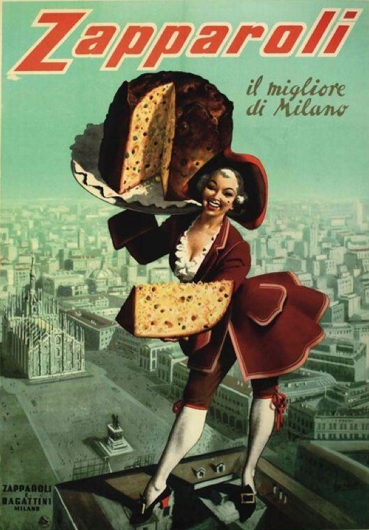 Poster by Gino Boccasile, ca 1950, Zapparoli, il migliore di Milano. (I)