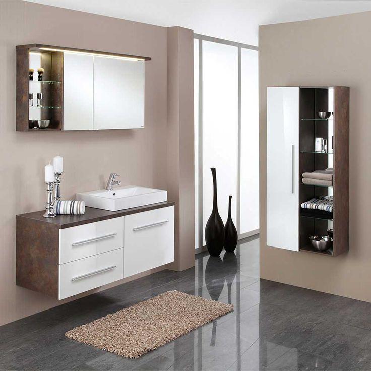 Badezimmermöbel Set Mit Waschtisch Und Spiegelschrank Rostfarben (3 Teilig)  Jetzt Bestellen Unter: