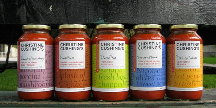 Christine Cushing*s Sauces — The Dieline - Branding & Packaging. Solid example of a personality, although the word cloud falls flat.