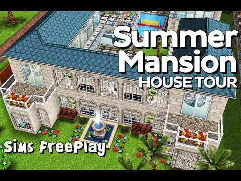 The Sims Freeplay   Summer Mansion (Original Design) This Charming  New Built Mansion Is Ideal For Small Rich Families And Their Friends.