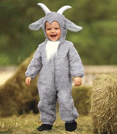 """boys billy goat costume - Only at Chasing Fireflies - We all know """"Three Billy Goats Gruff."""" Well, now meet one billy goat sweet!"""