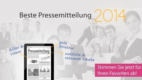 Stimmen Sie für die beste Online-Pressemitteilung 2014 ab: http://pr.pr-gateway.de/abstimmung-beste-online-pressemitteilung-2014-ab.html