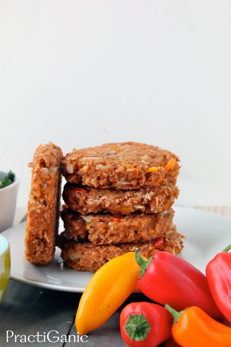 PractiGanic: Vegetarian Recipes and Organic Living: Leftover Refried Beans & Rice Burgers