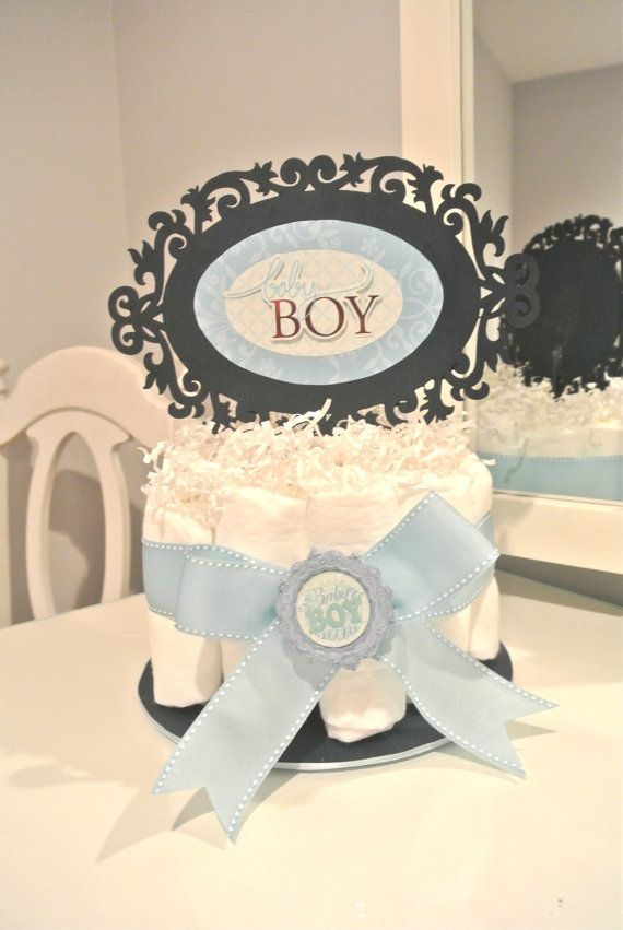 Small Diaper Cake Its a Boy by LuDecor on Etsy, $15.00