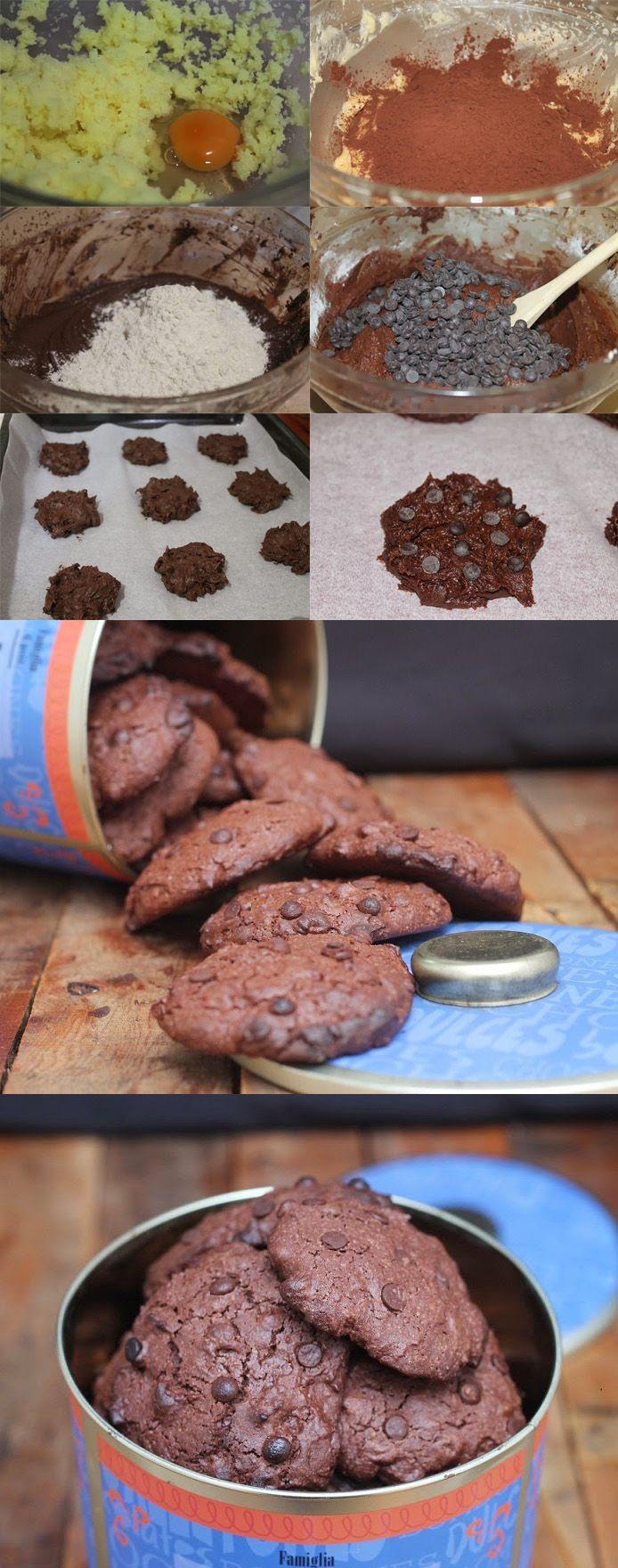 Cookies de chocolate.
