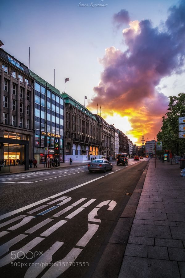 Hamburg sunset by SimonKirchmair check out more here https://cleaningexec.com