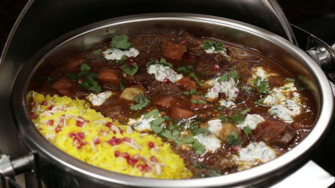 Moroccan Lamb Stew with Saffron Rice