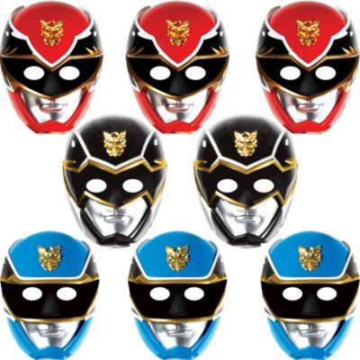 Paper Power Rangers Masks 8ct $3.99