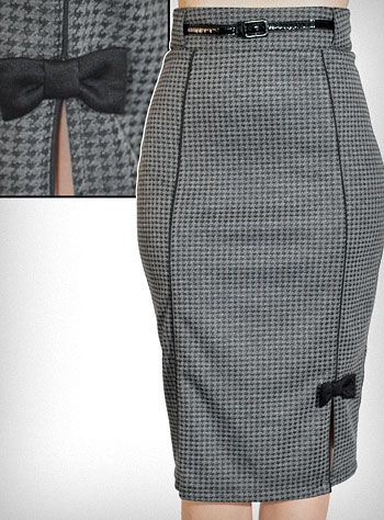 Love the retro style of this Hot for Houndstooth pencil skirt from shopplasticland.com