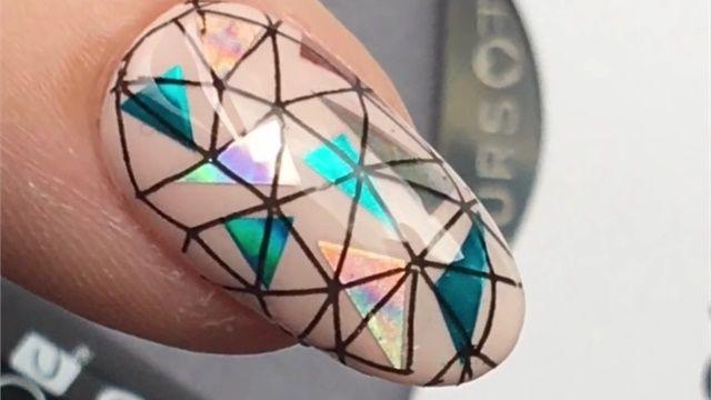 Stamping Shellac and Minx Nail Art
