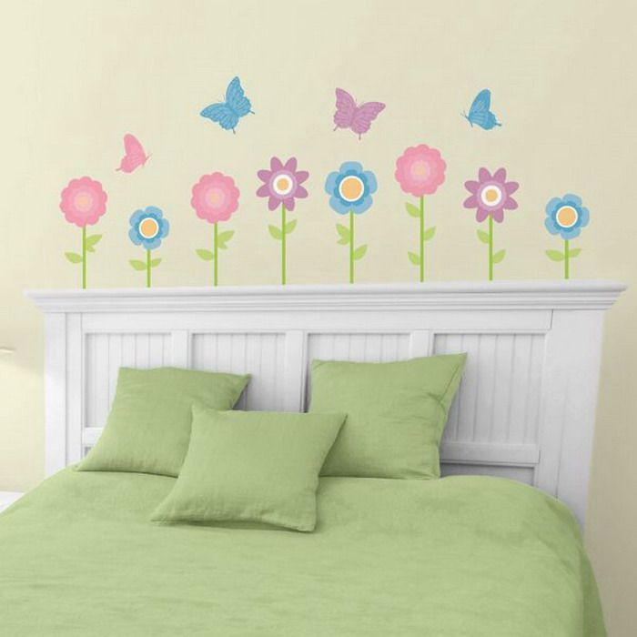 girls bedroom ideas with flower wall decals - Toddler Girl Bedroom Decorating Ideas